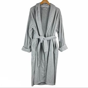 Victoria's Secret Grey Terry Cloth Belted Robe